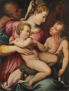Heilige familie met de kleine Johannes de Doper