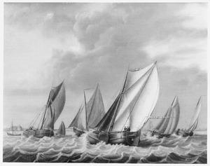 Haven met zeilende schepen