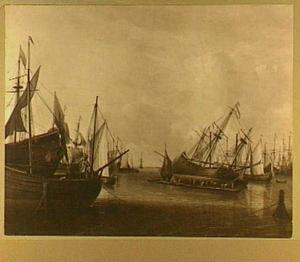 Kalefateren van een schip in een haven