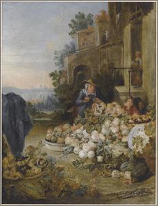 De fruitverkoopster