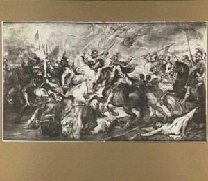 Koning Hendrik IV van Frankrijk tijdens de slag van Ivry