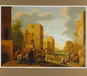 Dorpsstraat met de zeven werken van barmhartigheid