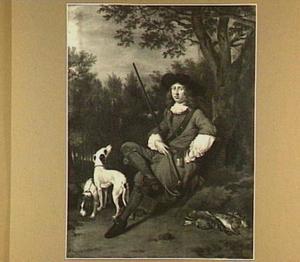 Portret van een man met jachtbuit, wellicht een zelfportret van de kunstenaar