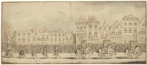 Gedeelte uit de begrafenisstoet van prinses Anna van Hannover in Den Haag, 23 februari 1759
