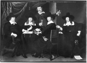 Overlieden van de Oude en de Nieuwe Doelen te Hoorn, 1660