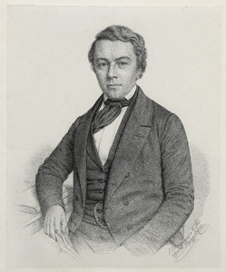 Portret van Volkert Simon Maarten van der Willigen (1822-1878)