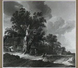 Landschap met herberg 'De Olifant' tussen bomen