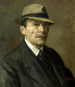 Zelfportret van Baruch Laguna (1864-1943)