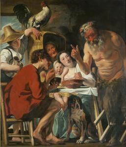 Fabel van de sater en de boer (Aesopus)
