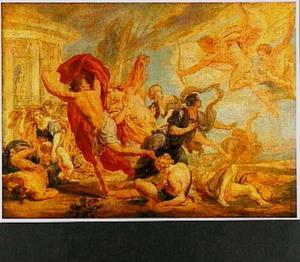 Apollo en Diana doden de kinderen van Niobe (Ovidius, Met.)