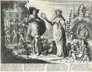 Allegorie op Willem II van Oranje-Nassau (1626-1650) als vredesstichter