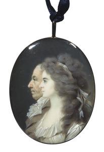 Dubbelportret van Adolf Hendrik des H.R. Rijksgraaf van Rechteren (1738-1805) en Henriette Christine Alexandrine Torck (1764-1792)
