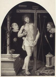 Man van Smarten met de instrumenten van de Passie met een beul en Judas