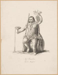 Portret van Jodocus Heringa (1765-1840) als 'Professor Bacchus'