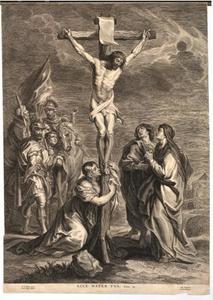 Christus aan het kruis, met Maria, Magdalena en Johannes