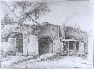 Utrecht, ruïne  van de burcht Vredenburg