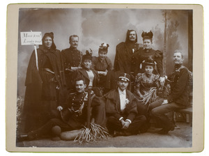 Groepsportret met Anna Catharina van Engelenburg (1873-1918) en Geertruida Paulina van Engelenburg (1875-...)