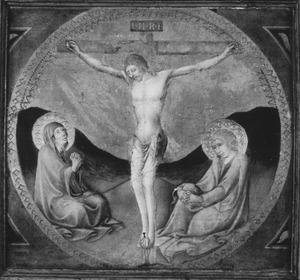 Kruisiging met Maria en Johannes de Evangelist