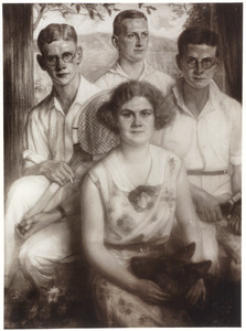 Portret van de kinderen van Jan Gerritzen (?-?) en Albertina Ruys (?-?)
