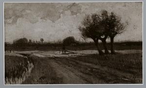 Landschap bij vroege avond