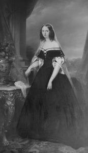 Portret van koningin Sophie, prinses van Wurtemberg, als prinses van Oranje (1818-1877)