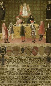 Het kantoor van de belastingdienst (biccherna) van Siena