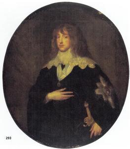 Portret van prins Karl Ludwig. keurvorst van de Palts (1617-1680) als ridder in de Orde van de Kousenband
