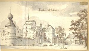 Gezicht op kasteel Heumen 1669