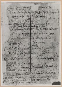 Schetsboekblad met notities van Stradanus over het verzenden van tekeningen voor de serie 'Schema seu Speculum'