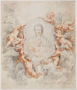 De beeltenis van de Madonna gedragen door Engelen (Madonna della Vallicella)