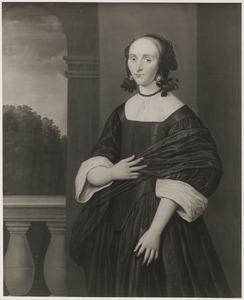 Portret van Maria van der Waes (....-1677)