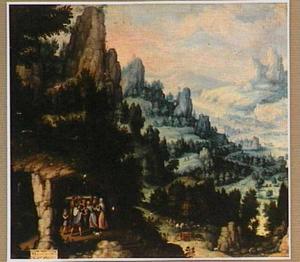 De graaf van Barcelona brengt zijn bezeten dochter Riquilda bij de heilige Guarinus om te genezen