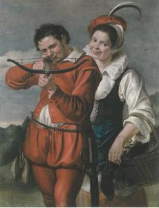 Boogschutter met vrouw