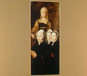 Groepsportret van Elisabeth de Mil (?-?), echtgenote van Guido Morillon (?-1548), en haar dochters als schenkers, met de H. Elisabeth van Thüringen (1207-1231)