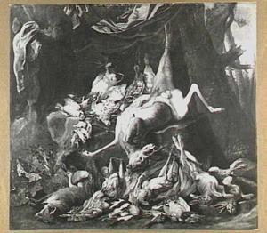 Jachtbuit van hert, hazen, gevogelte en vos