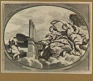 De H. Caecilia orgelspelend
