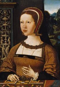 Portret van een vrouw (koningin Isabella van Denemarken?)