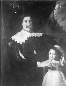 Portret van een man met zijn zoon