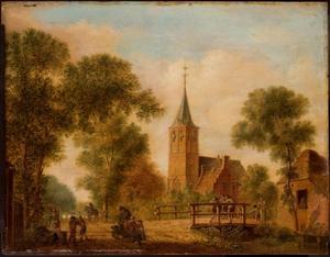 De Hervormde kerk van Nederlangbroek gezien vanaf de Cotherweg