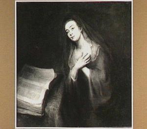 De maagd Maria tijdens de Annunciatie