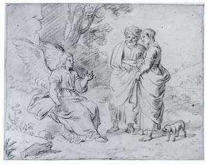 De engel verschijnt aan Manoach en zijn vrouw en voorzegt de geboorte van een zoon (Richteren 13)