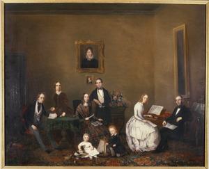 Portret van de familie van François Willem de Virieu (1789-1876)