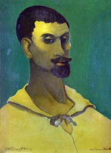 Zelfportret met gele blouse