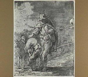 Lazarillo, de blinde en het beeld van een stier (Lazarillo de Tormes dl. 1, cap. 2, p. 5)