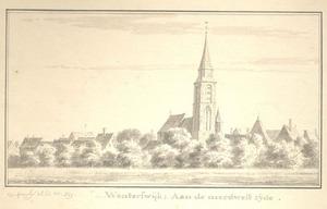 Winterswijk, het dorp met de kerk vanuit het noordwesten