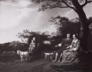 Familieportret van onbekende personen