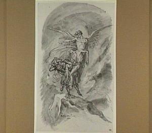 Het gevecht tussen de engel en de duivel om het lichaam van Mozes