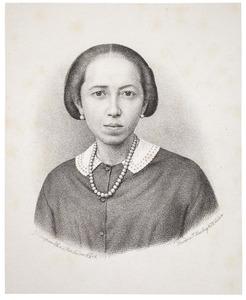 Portret van een onbekende Indische vrouw
