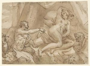 Jupiter als sater met Antiope