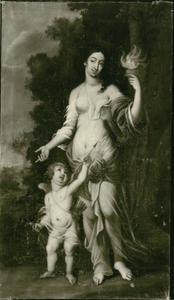Venus, godin van de liefde, met Amor